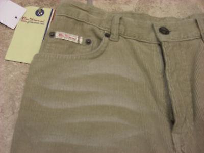 "Bnwt Boys Ben Sherman Cream Distressed Wash Bootcut Cords  Waist 27""  Leg R 3"