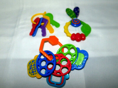 Infant Toy Lot of 14 Developmental Infant Toys Sensory Baby Teether Loveys 6