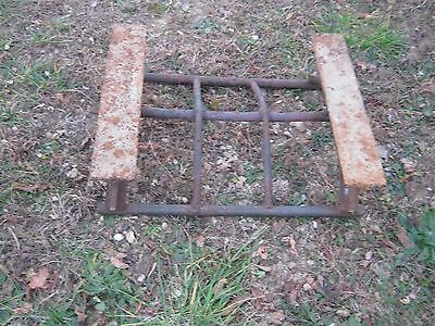 Vintage Primitive Rustic Rusty Handmade Welded Fireplace great for decor 7