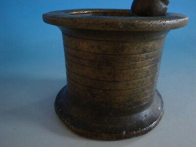 RS1118-481: Schwerer Antiker Mörser Bronze mit Pistil Apotheke ca. 8,2 Kg 2