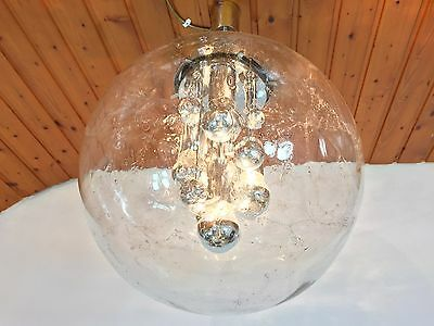 Mid Century 1960s Doria XXL Space Age Chandelier Globe Pendant Lamp  Era Panton 4