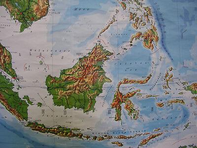Cina E Giappone Cartina Geografica.Poster Per Pareti Scolastiche Cartina Geografica Sudostasien