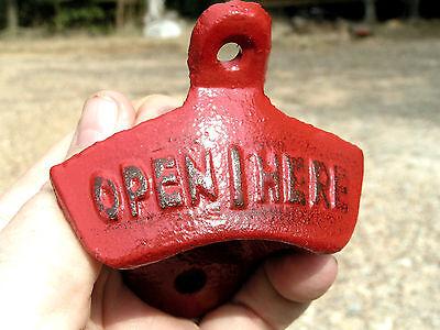 Ten Cast Iron Soda Pop Bottle Openers RED 7