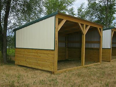 6 Of 11 Heavy Duty Portable Horse Barn Livestock Shelter Goat Shed Sheep Wood