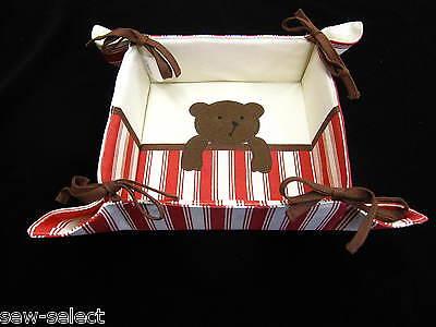 Teddy Bear Nursery Storage Basket - Changing mat area organiser storage tray