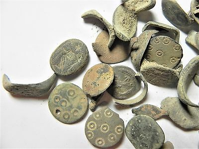 Zurqieh - Ancient Holy Land , Group Of 35 Ancient Bronze Rings- All Broken 2