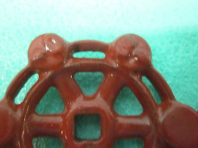 """Lot of 7 Matching Cast Iron 2-1/16"""" Dia. Steampunk Valve Handles Water Knobs 4"""