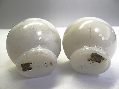 Antique White Glass Architectural Decorative Finial Pieces Balls Accent Parts 5