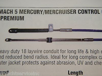 MERCURY MERCRUISER CONTROL CABLE UFLEX MACH5X12 SHIFT OR THROTTLE CABLE 12FT