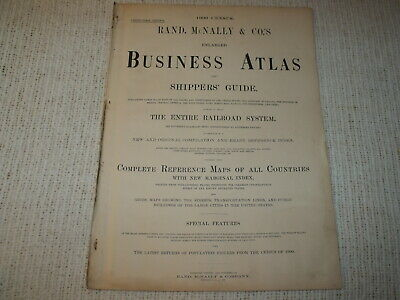 Vintage 1901 Montreal Canada Map Rand McNally Business Atlas Double Page 2