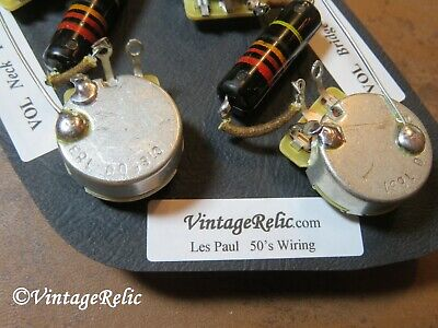 Upgrade Wiring Kit vintage 1950s Bumblebee Caps CTS fit Gibson Les Paul Historic 3