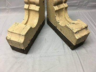 Antique 1890s Pair Wood Corbels Victorian Architectural Shelf Brackets 73-17B 3