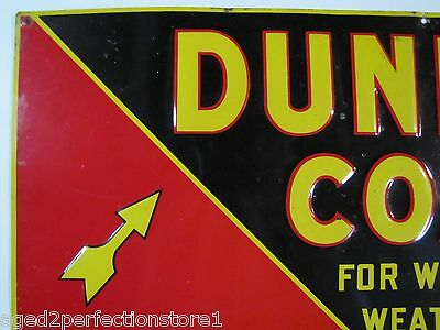 Early 1900s Dundon Coal Advertising Sign 'for winter weather' old embossed *Rare 5