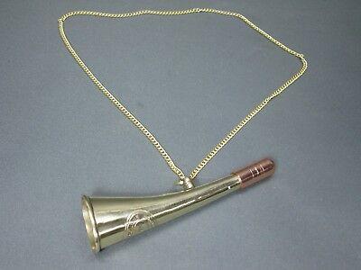 Messing Stethoskop Hörrohr Hearing Pipe Hörgerät  Ear Trumpet 15 cm mit Kette 4