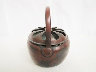 Antique Late 19th Century Chinese Copper Portable Hand Warmer