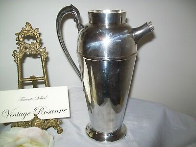 Silver Plated Pitcher Victorian Plate Canada Vintage Coffee Martini Serve Vase 12