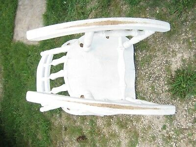 Vintage Used White Adult Wood Rocking Chair Furniture good for decor only 6