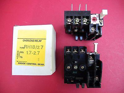 Hawker Siddeley / Brooke Control Gears - AC Motor Starter SRT3/ES5 Overloads New 2
