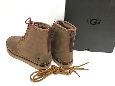 3f892ae3648 UGG AUSTRALIA HARKLEY Waterproof Lace Up Boot 1017238 Grizzly Brown Men's  sizes