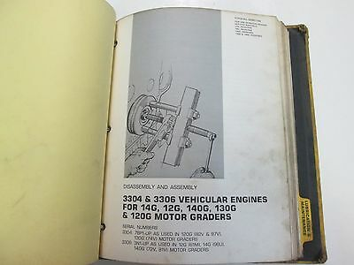 CATERPILLAR 3304 3306 Direct Injection Vehicular Engine 14G Manual BINDER  STAINS
