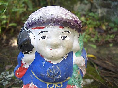 Japan antique clay doll Daikokuten God of Wealth 7 Deities of Good Fortune #8233 2