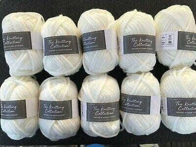 job lot amounts of  knitting wool/yarn chunky cream 50g balls various amounts 2