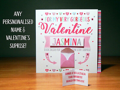 Special Valentine's Day surprise reveal card Personalised Valentine cards 4