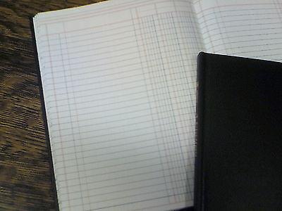 "80 Pages 7 x 9.25/"" Adams Account Book 3 Columns # ARB8003M Ledger Black"
