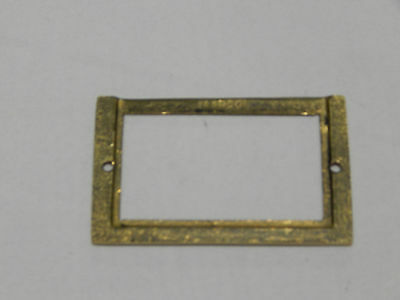 File Cabinet Card Frame Brass 3