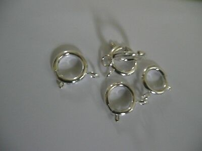 QUALITY 5 large 16mm BOLT RING SPRING CLASPS  SILVER PLATE PLATED on brass 4