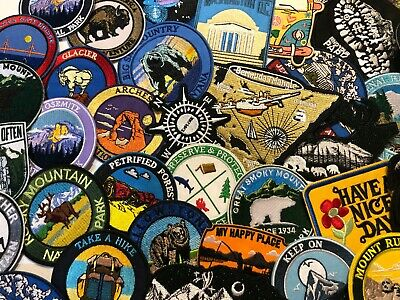 Mountain Made Embroidered Iron-On / Sew-On Patch Vacation Souvenir Explore More 6