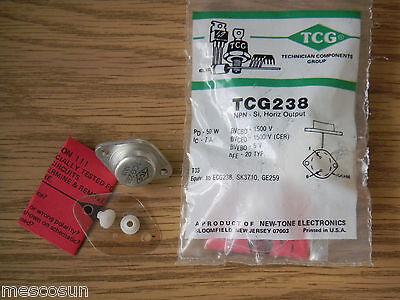 RCA SK3710 NTE238 //ECG238 //GE259 NPN Silicon Transistor ColorTV Hor Output 2 PCS