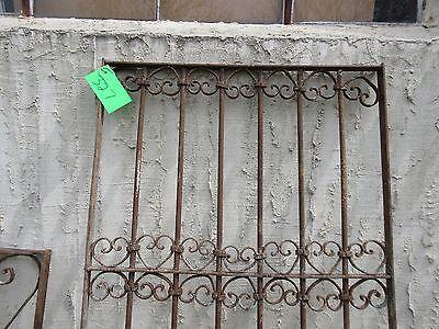 Antique Victorian Iron Gate Window Garden Fence Architectural Salvage Door #327 2