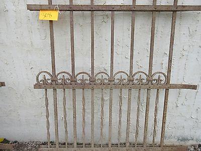 Antique Victorian Iron Gate Window Garden Fence Architectural Salvage Door #308 3