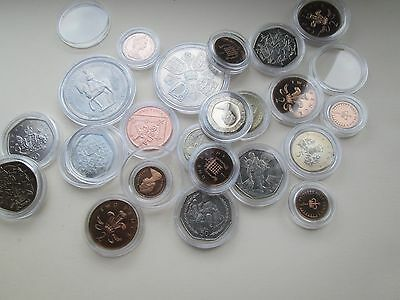 Lighthouse capsuals!10 New Lighthouse coin capsules - Any Size mix 'n match 8