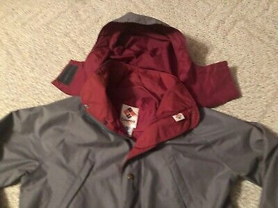 VINTAGE COLUMBIA ORANGE Label Gore Tex Jacket Hooded Coat