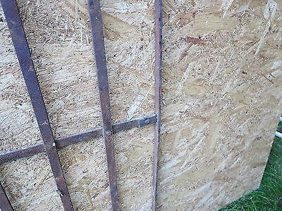 2 Antique Victorian Iron Gate Window Garden Fence Architectural Salvage Door 000 7