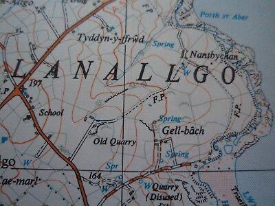 "RARE Ordnance Survey Map 2.5""  COASTAL map SH58 Red Wharf Bay 1956 Llanbedrgoch 4"