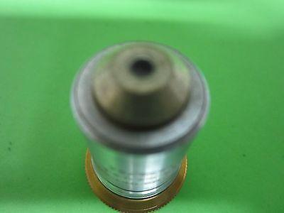 Optical Vintage Microscope Objective Bausch Lomb Fluorite Optics Bin#40-81 2