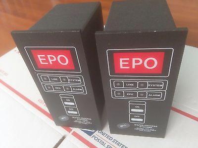 WAFER PROCESS SYSTEMS 100 EPO EMERGENCY POWER OFF PANEL NEW 60 DAY WARRANTY