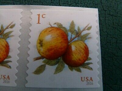 1 Cent Apple Stamps 2016 USPS Mint Postage Stamps Set Of 20 For Actual Postage 3