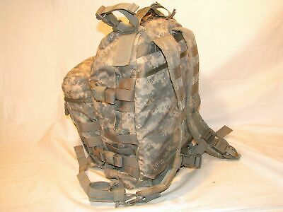 US ARMY ACU ASSAULT PACK 3 DAY MOLLE II BACKPACK w/ Stiffener VGC Made in USA 6