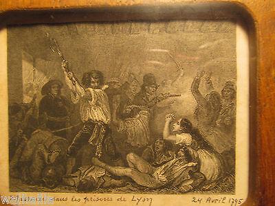 Frankreich Revolution Uralte Bilder im Rahmen 18th century & Revolutionary