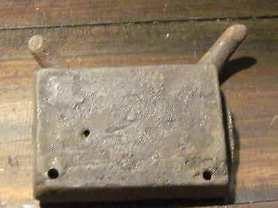 Early antique wrought iron horse tack hook 3