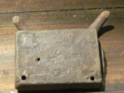 Early antique wrought iron horse tack hook