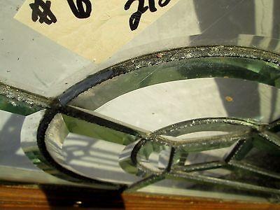 "Great Size Pair Solid Oak Antique All Beveled Glass 55"" Side-Lites Estate # 619 5"