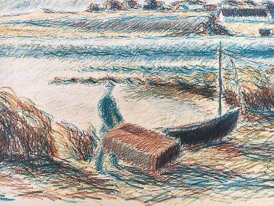 Ernst Syberg 1906-1981 Windiger Tag An Der Küste - Lithografie 1970 6