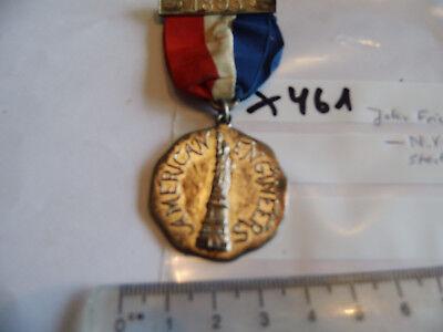Medaille USA 1893 American Engineers Sterling (x461)