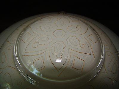 Antique 3 Chain Victorian Art Deco Gold Paisley Chandelier Ceiling Light Globe 3