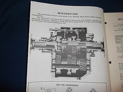 SPICER R 8000 SERIES 3 Speed Transmission Service Shop Repair Book Manual